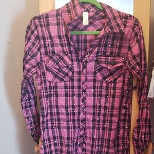 Girls justice button up top